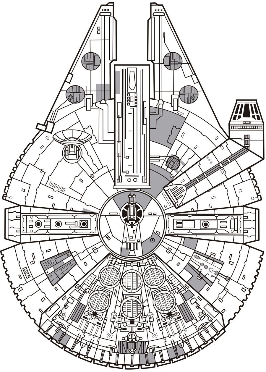 millennium falcon svg #813, Download drawings