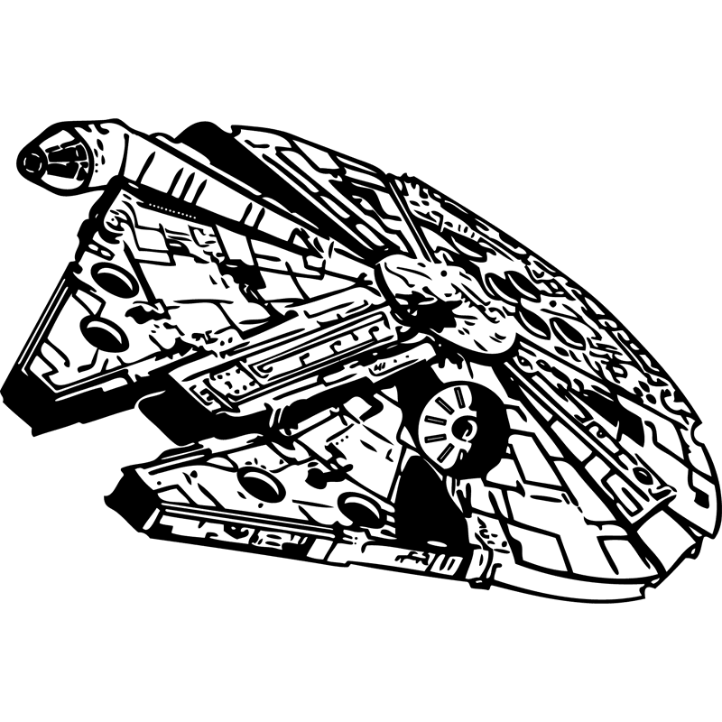 millennium falcon svg #846, Download drawings