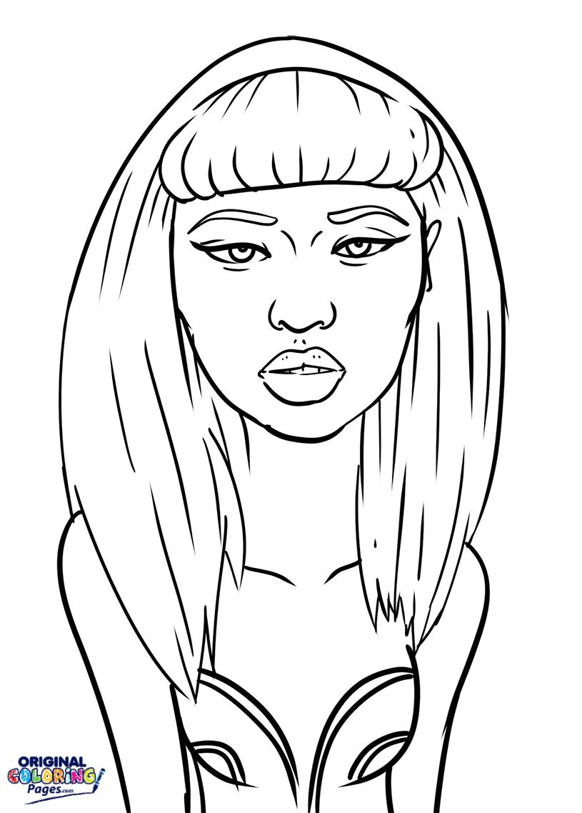 Minaj coloring #2, Download drawings
