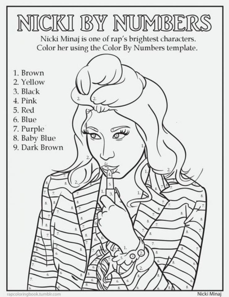 Minaj coloring #3, Download drawings