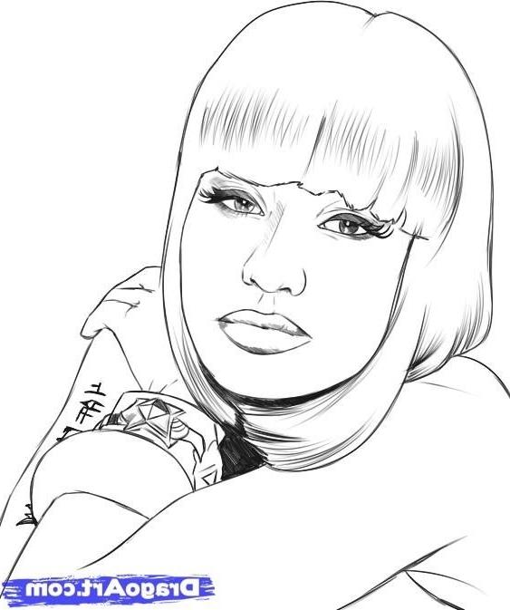 Minaj coloring #19, Download drawings