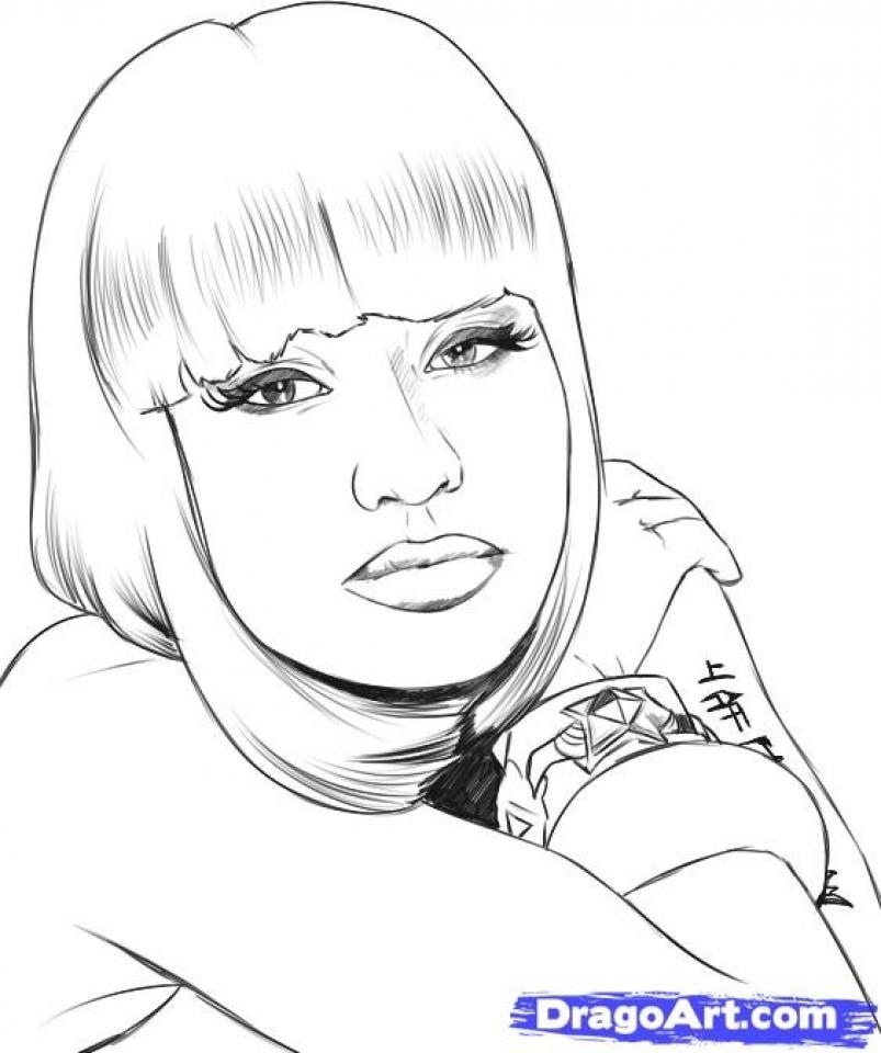 Minaj coloring #13, Download drawings