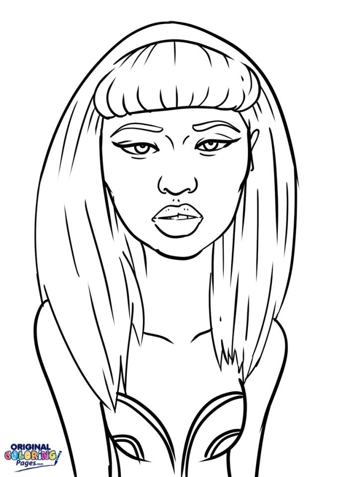 Minaj coloring #11, Download drawings