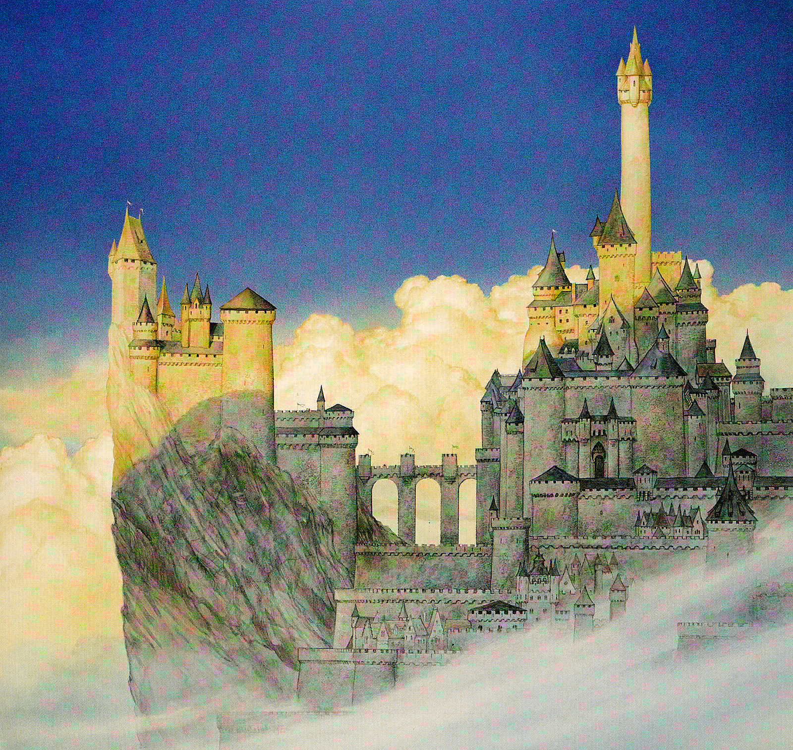 Minas Tirith coloring #2, Download drawings