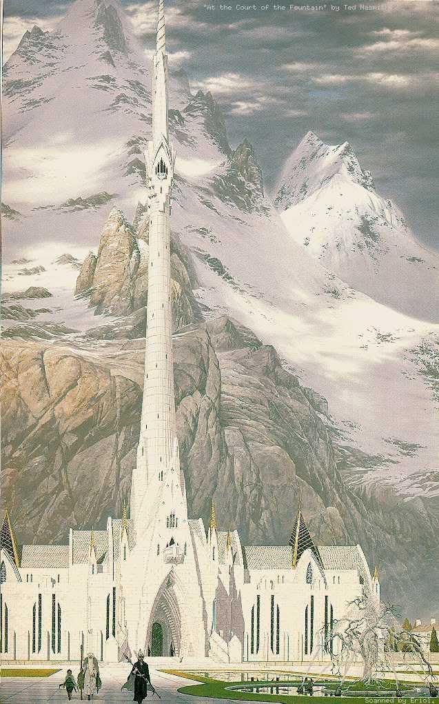 Minas Tirith coloring #11, Download drawings
