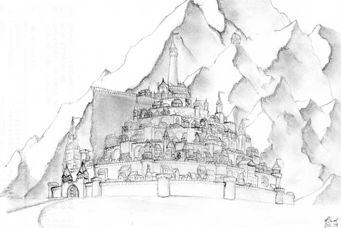 Minas Tirith coloring #15, Download drawings