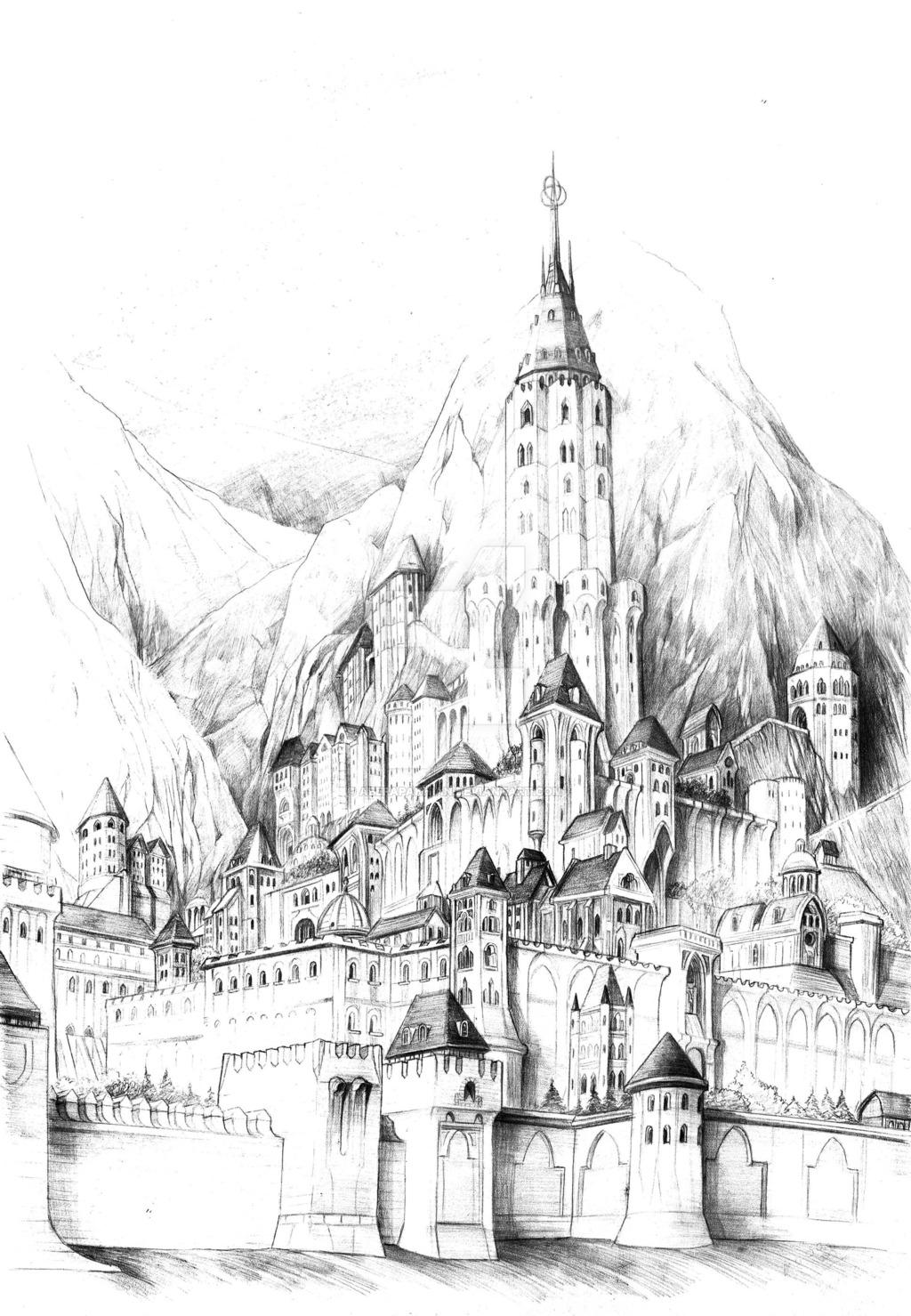 Minas Tirith coloring #4, Download drawings