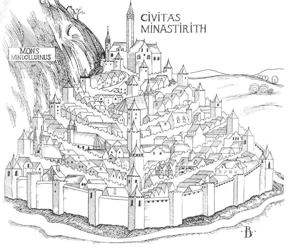 Minas Tirith coloring #6, Download drawings