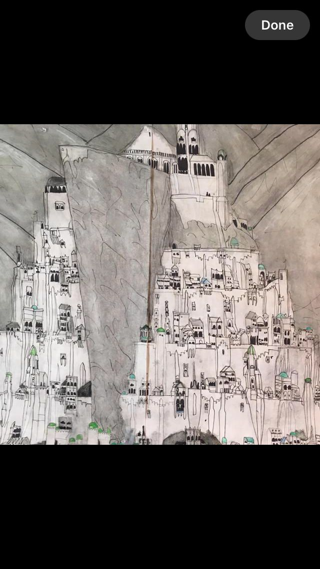 Minas Tirith coloring #5, Download drawings
