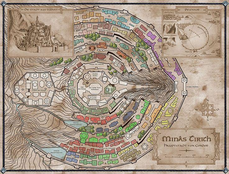Minas Tirith coloring #8, Download drawings