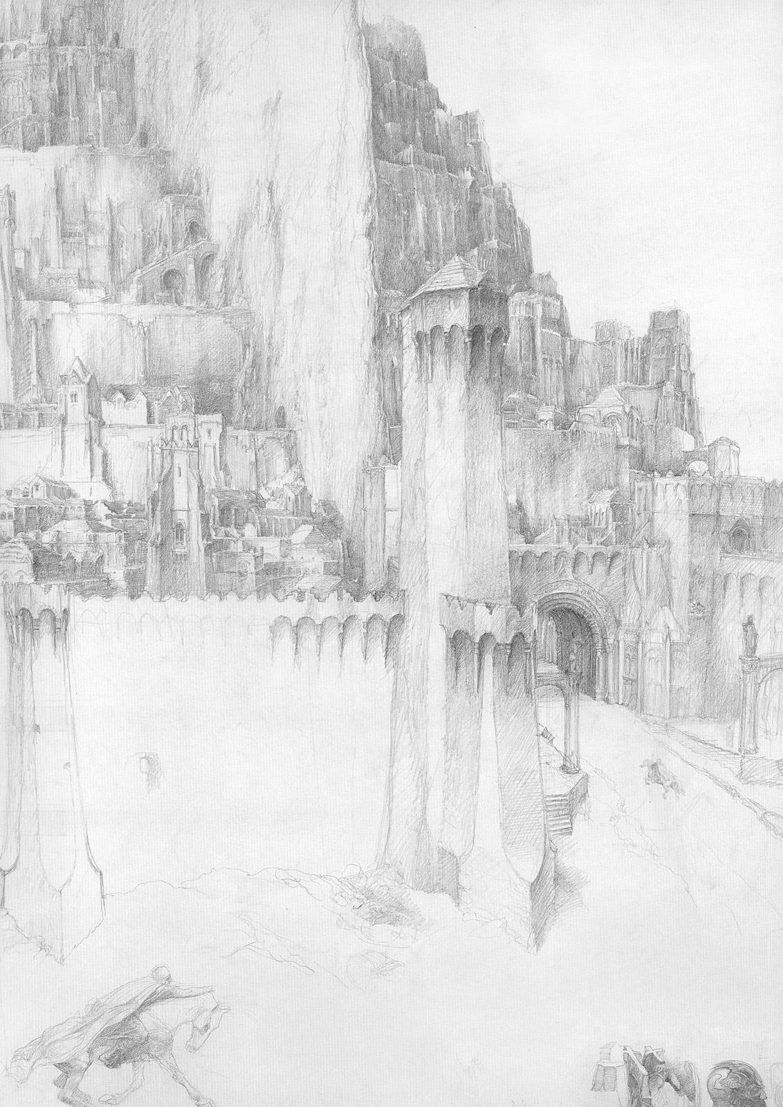 Minas Tirith coloring #12, Download drawings