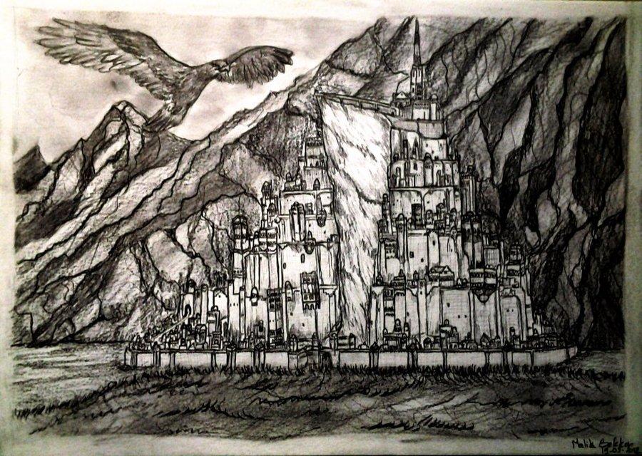 Minas Tirith coloring #20, Download drawings