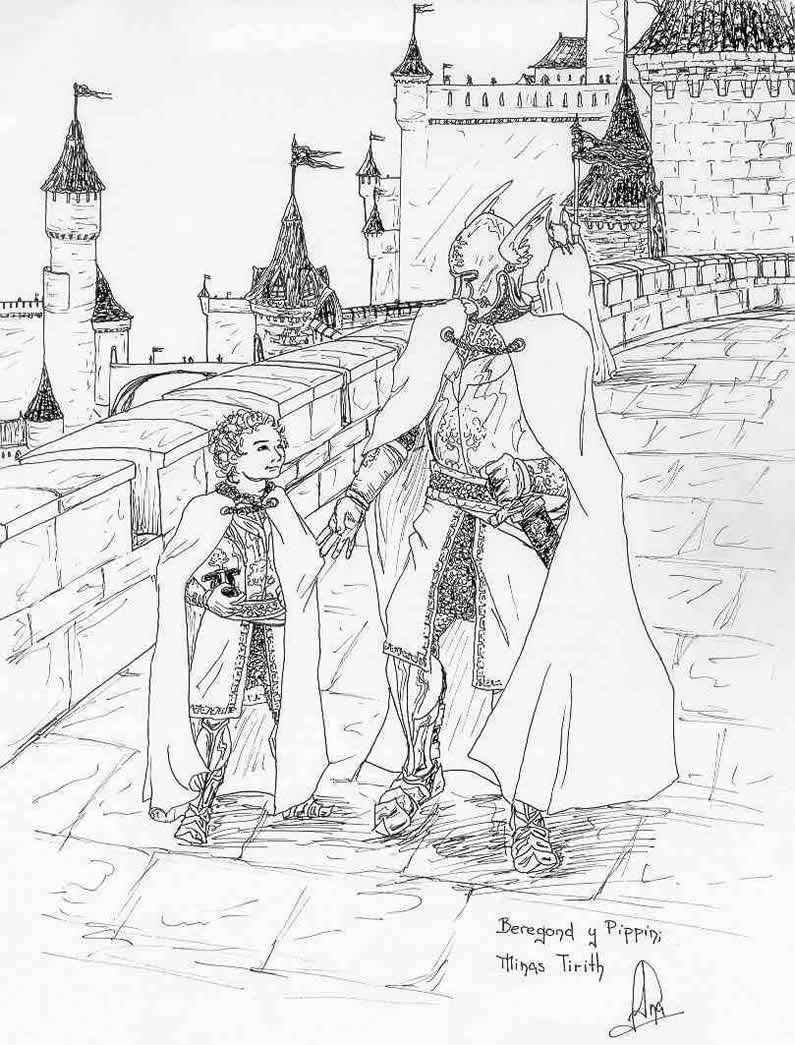 Minas Tirith coloring #17, Download drawings