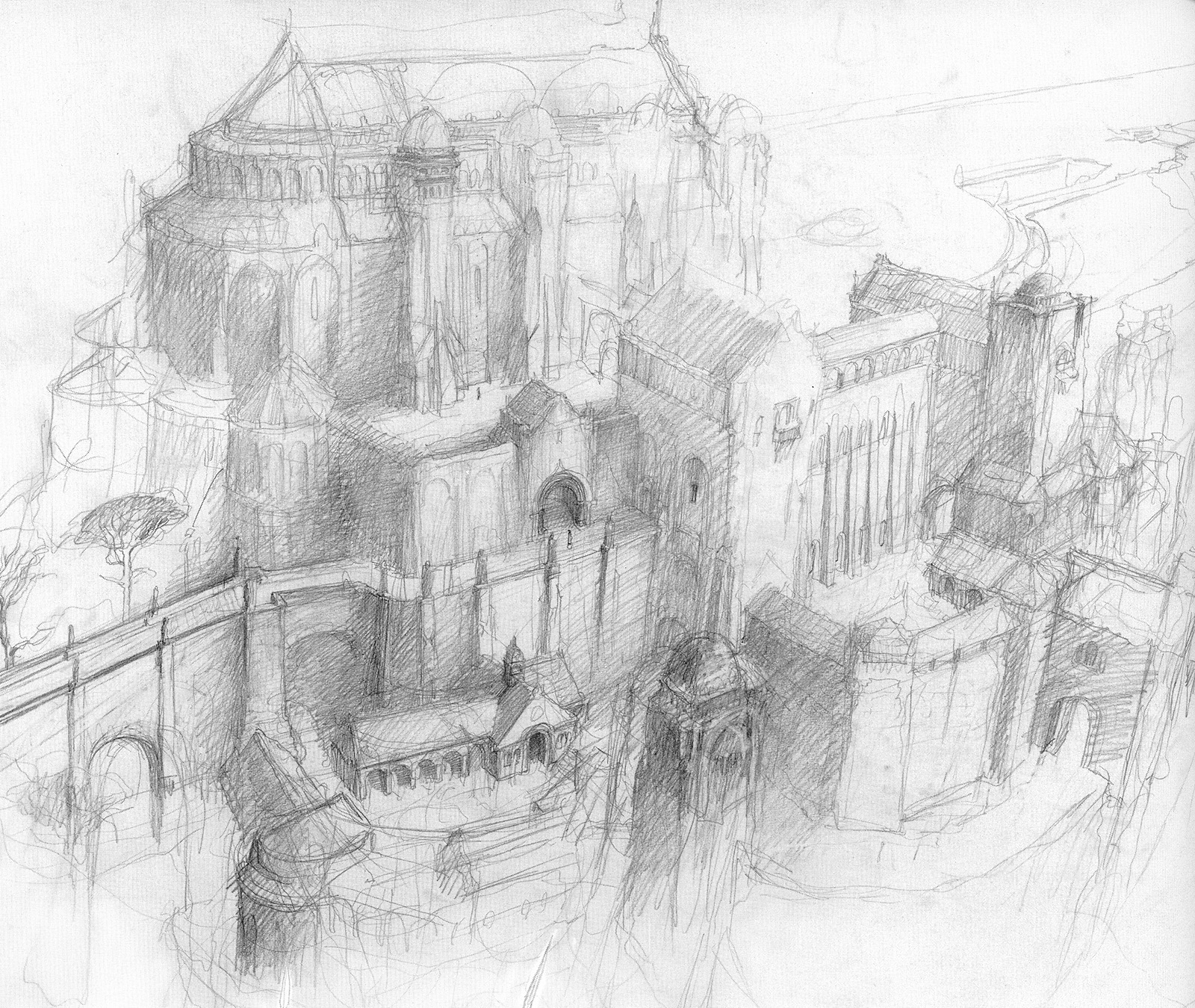 Minas Tirith coloring #3, Download drawings