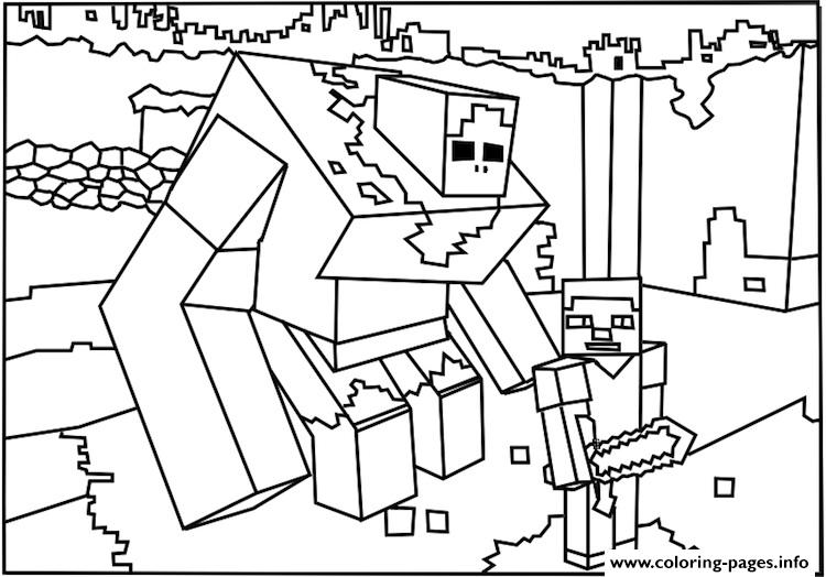 Golem coloring #14, Download drawings