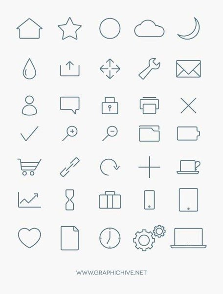 Minimalist clipart #20, Download drawings