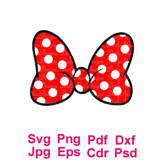 minnie bow svg #669, Download drawings