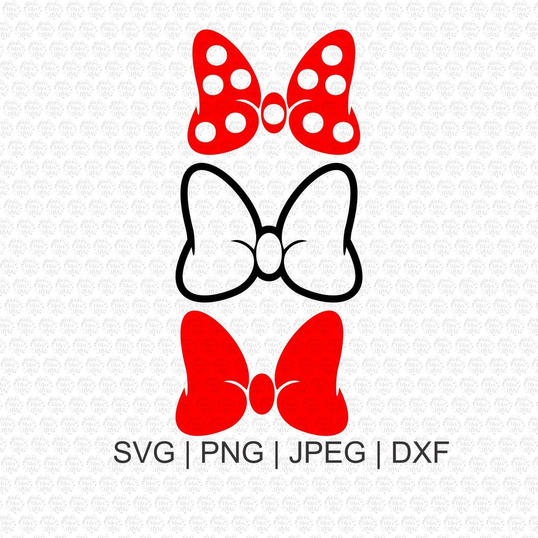 minnie bow svg #661, Download drawings