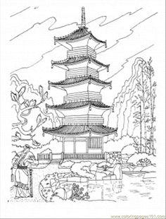 Minobu-cho coloring #16, Download drawings