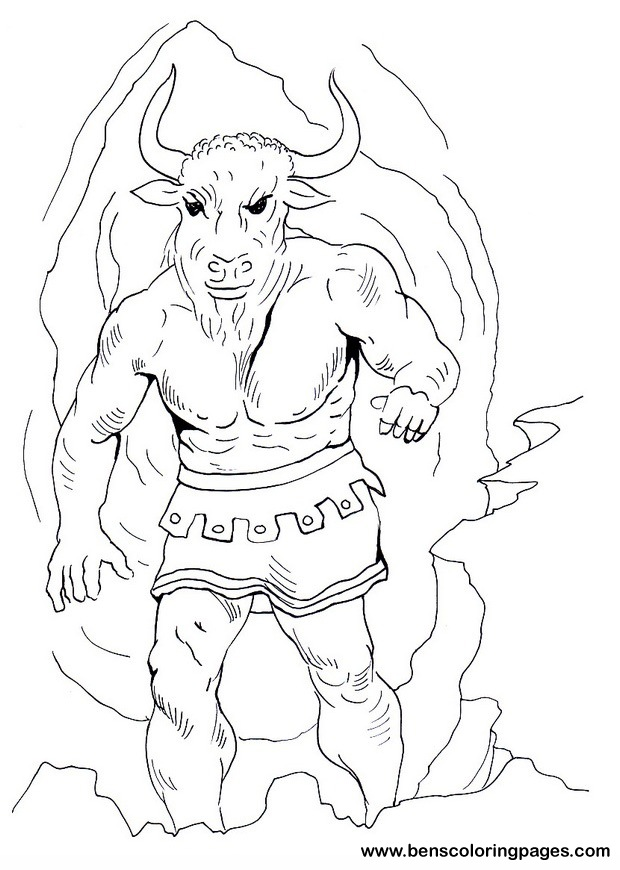 theseus coloring pages - photo#14