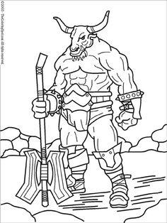 Minotaur coloring #13, Download drawings