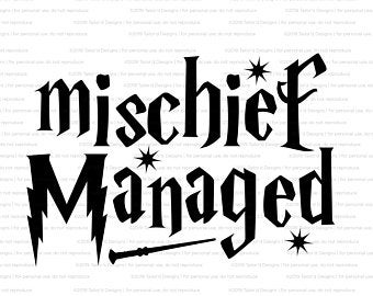 mischief managed svg #939, Download drawings