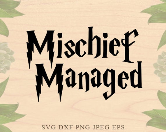 mischief managed svg #944, Download drawings