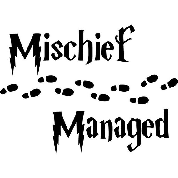 mischief managed svg #938, Download drawings