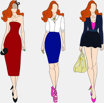 Model clipart #1, Download drawings