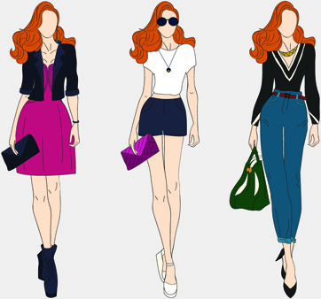 Model clipart #9, Download drawings