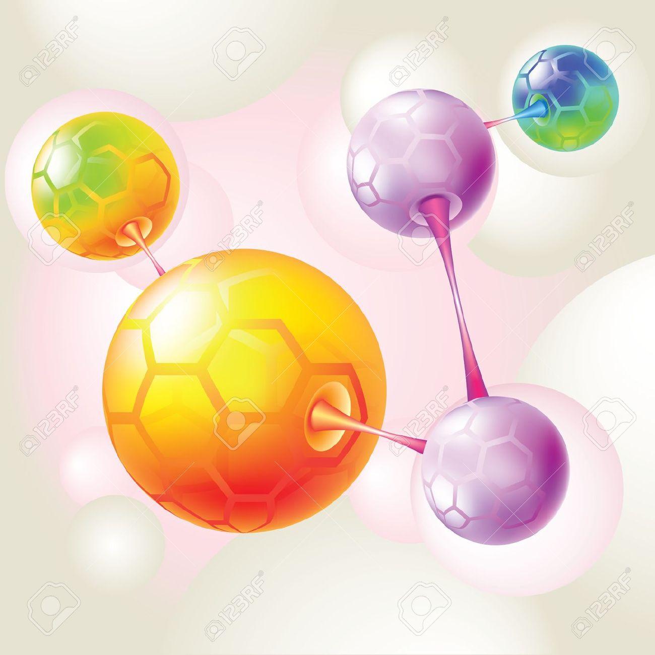 Molecule coloring #6, Download drawings