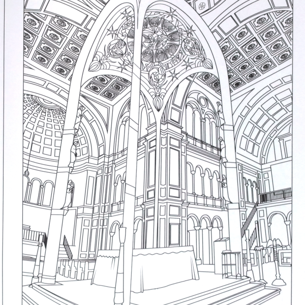 Monastery coloring #3, Download drawings