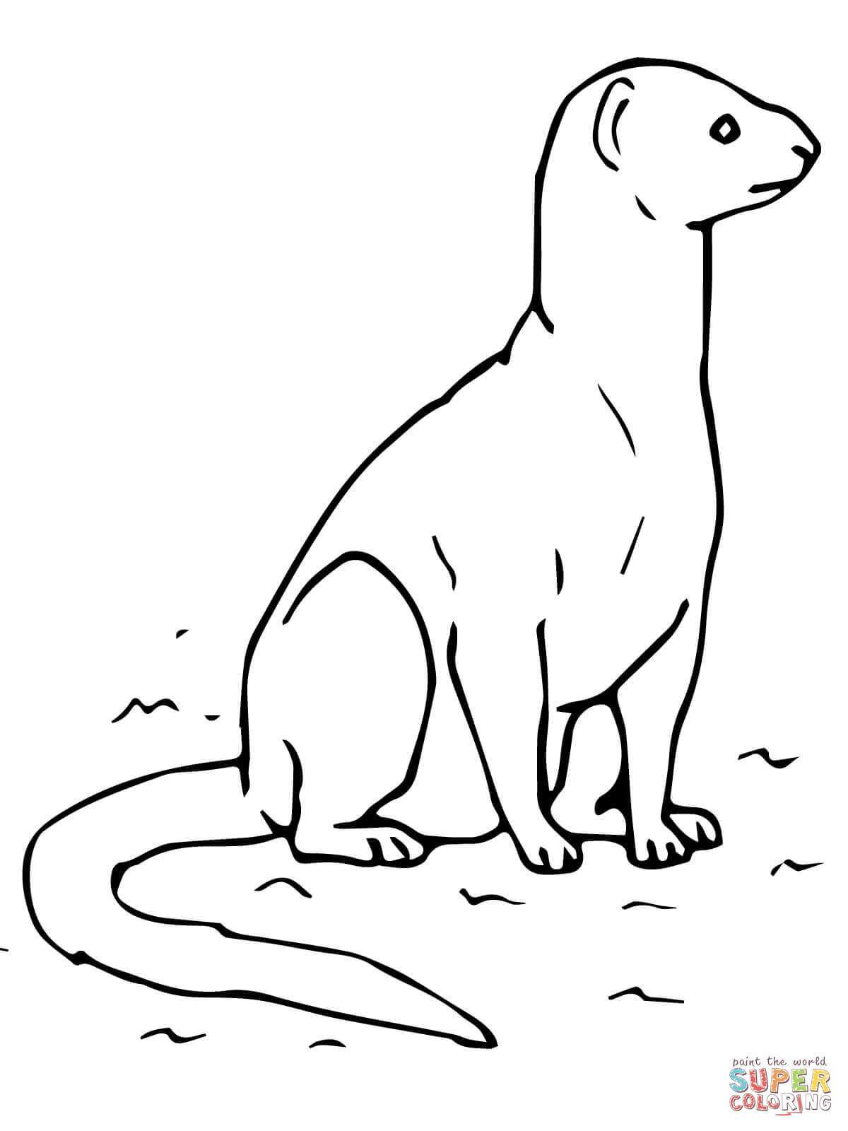 Yellow Mongoose coloring #16, Download drawings