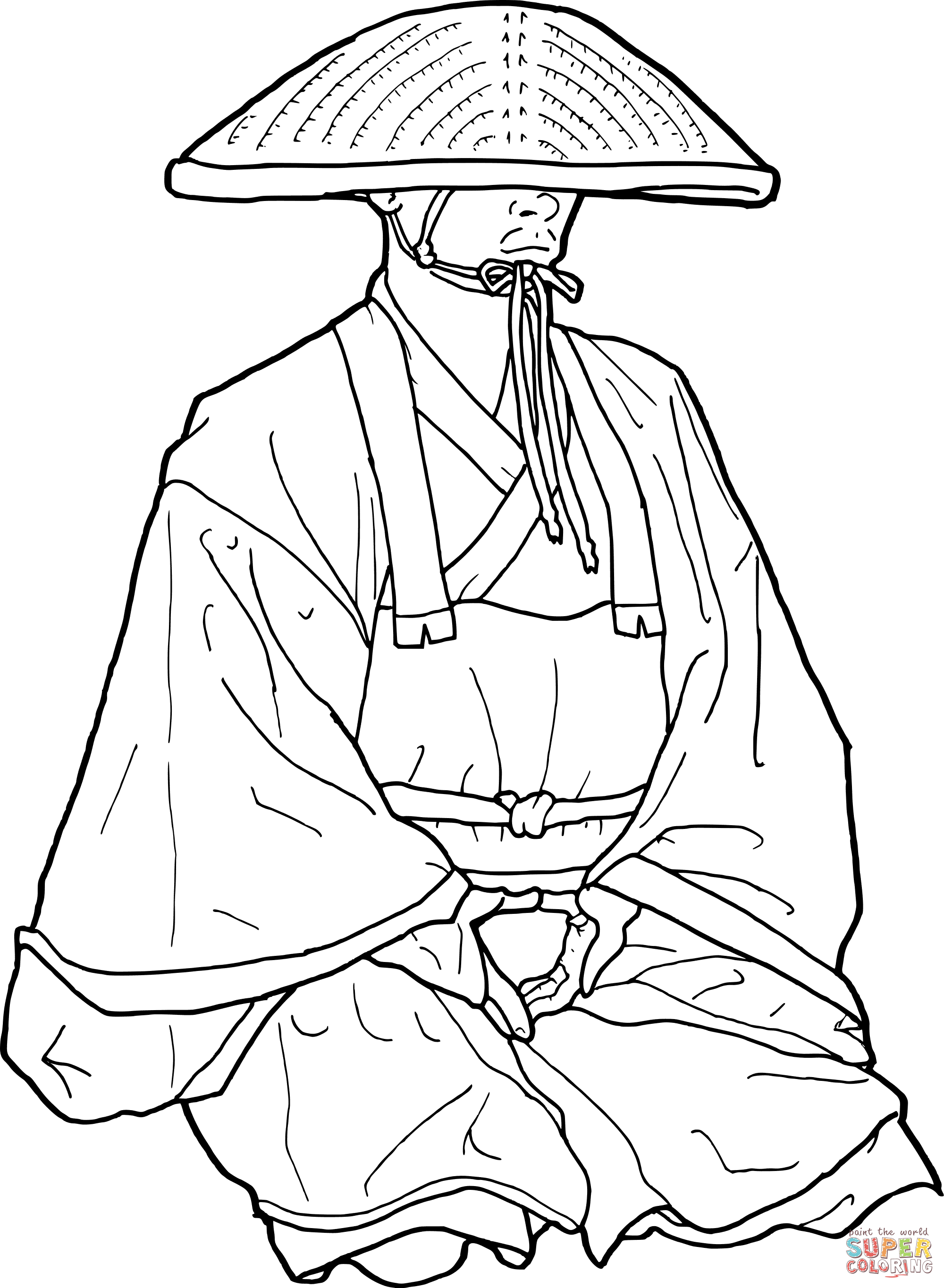 Monk coloring #2, Download drawings