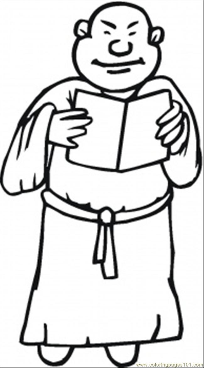 Monk coloring #19, Download drawings