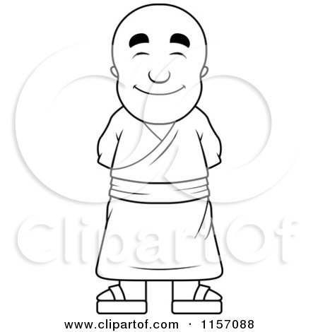Monk coloring #6, Download drawings