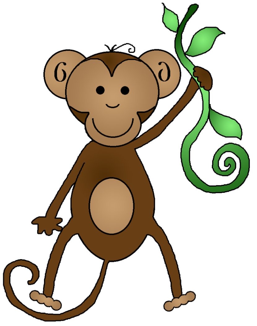 Monkey clipart #2, Download drawings