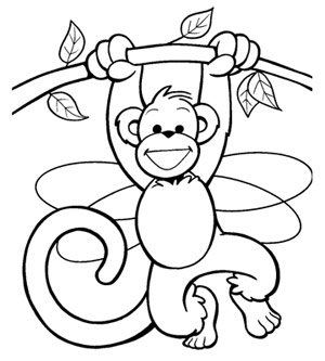 Monkey coloring #12, Download drawings