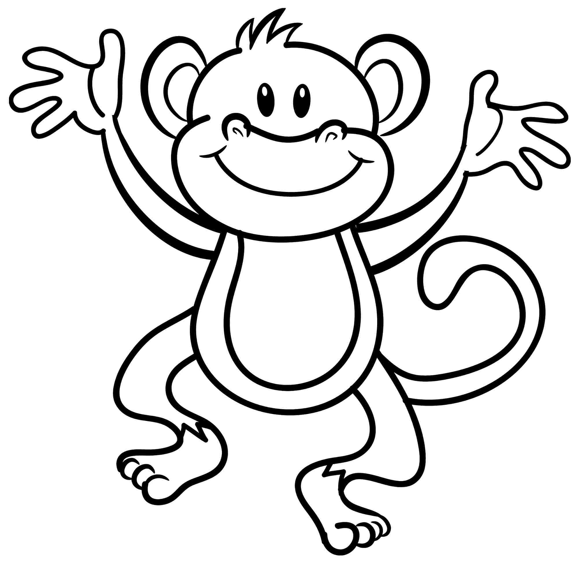Monkey coloring #16, Download drawings