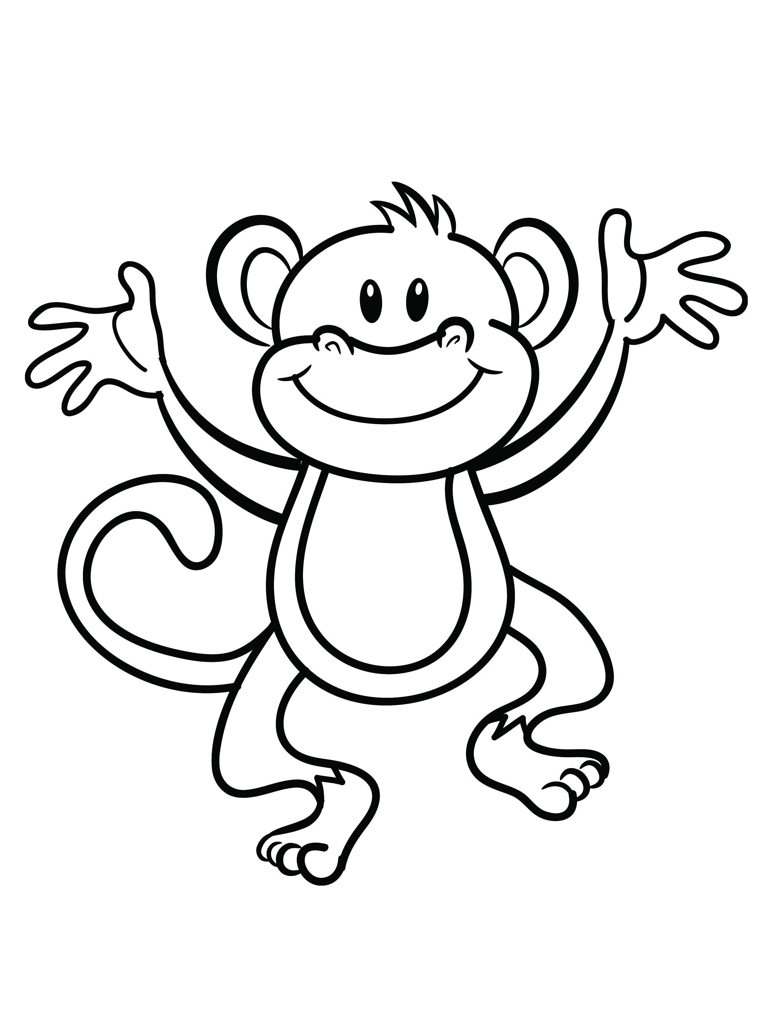 Monkey coloring #14, Download drawings