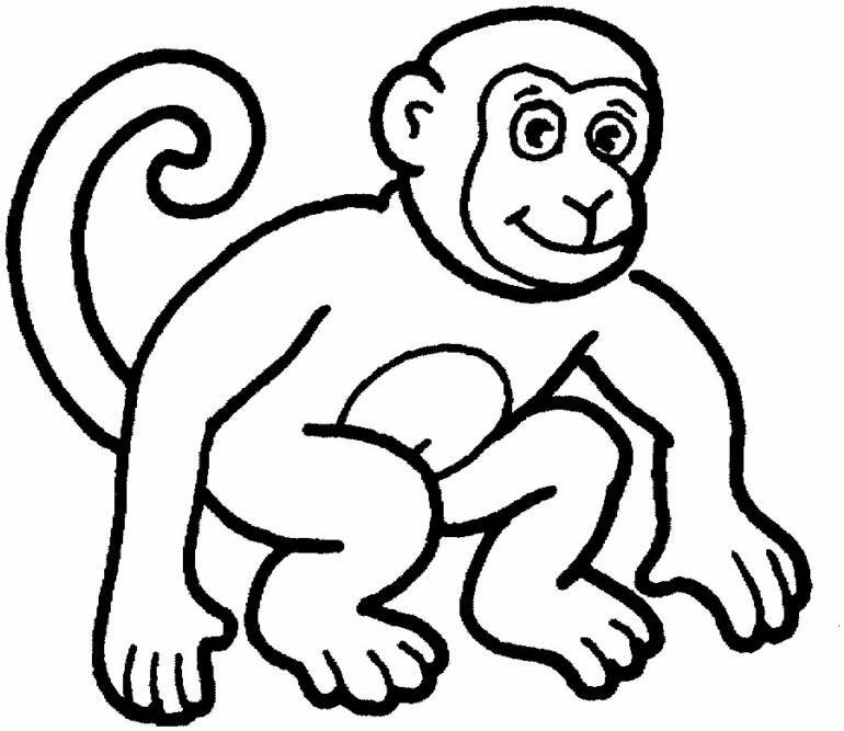 Monkey coloring #9, Download drawings