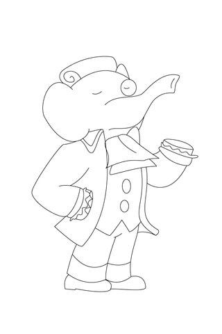 Monocle coloring #5, Download drawings