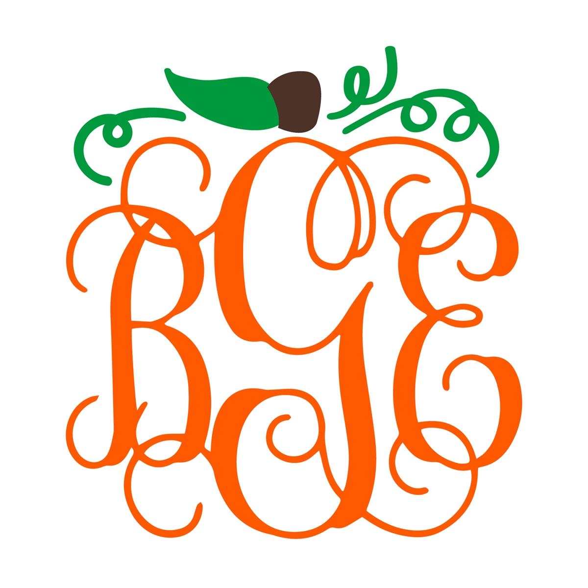 monogram pumpkin svg #761, Download drawings