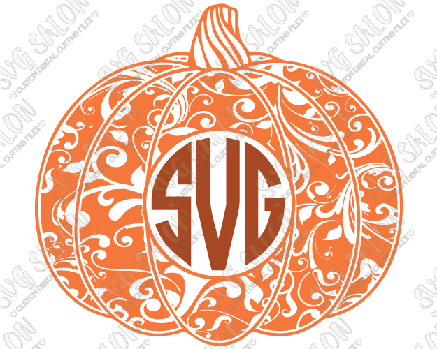 monogram pumpkin svg #760, Download drawings