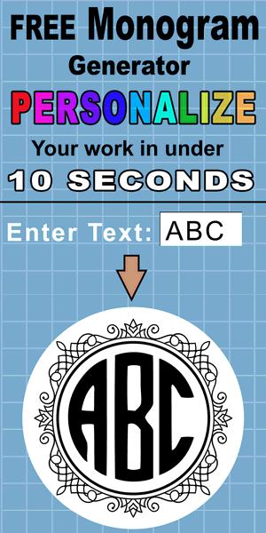 monogram svg maker #898, Download drawings