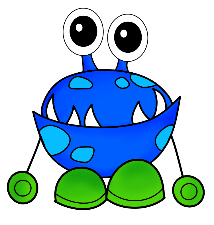 Monster clipart #3, Download drawings
