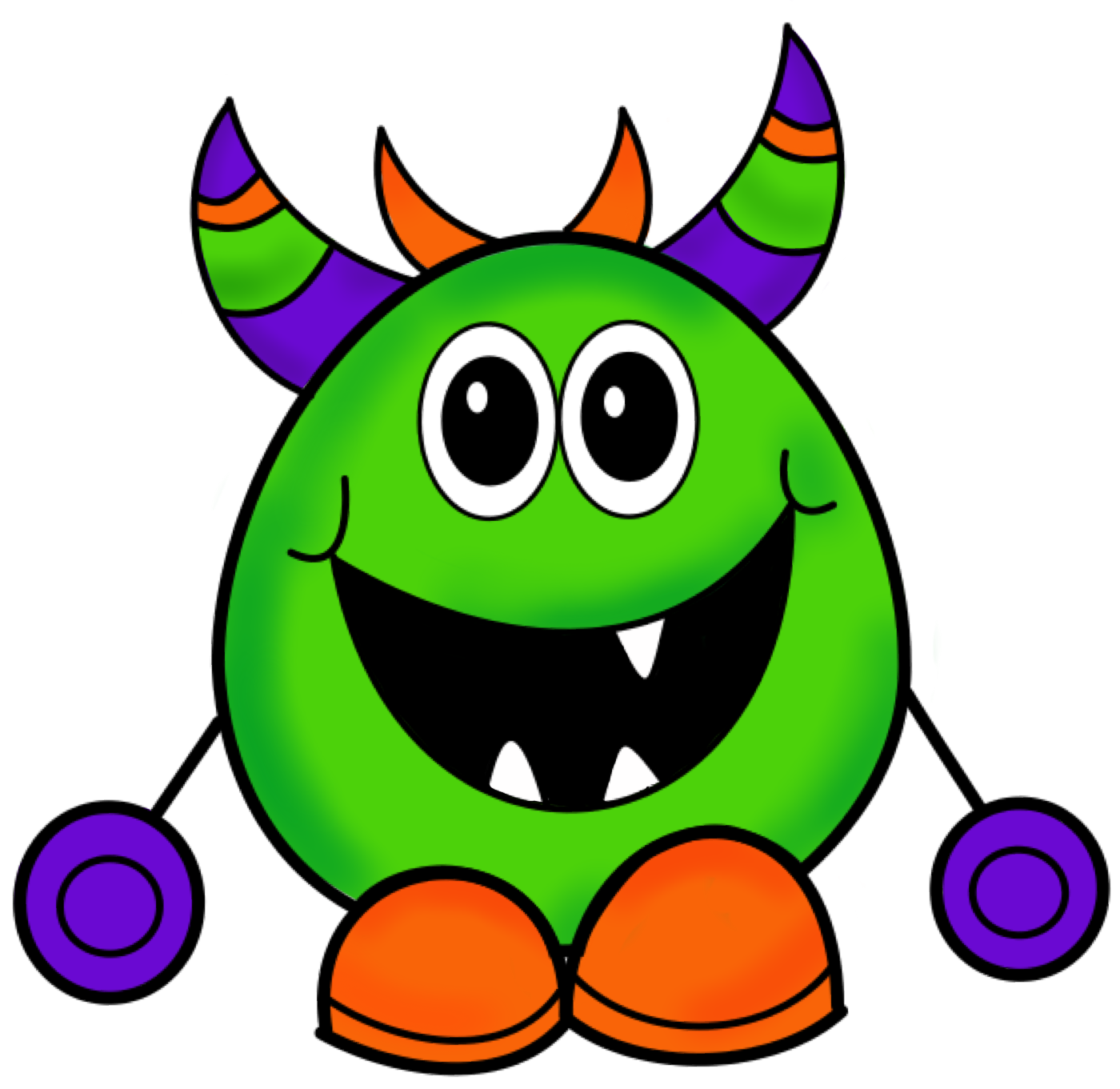 Monster clipart #2, Download drawings