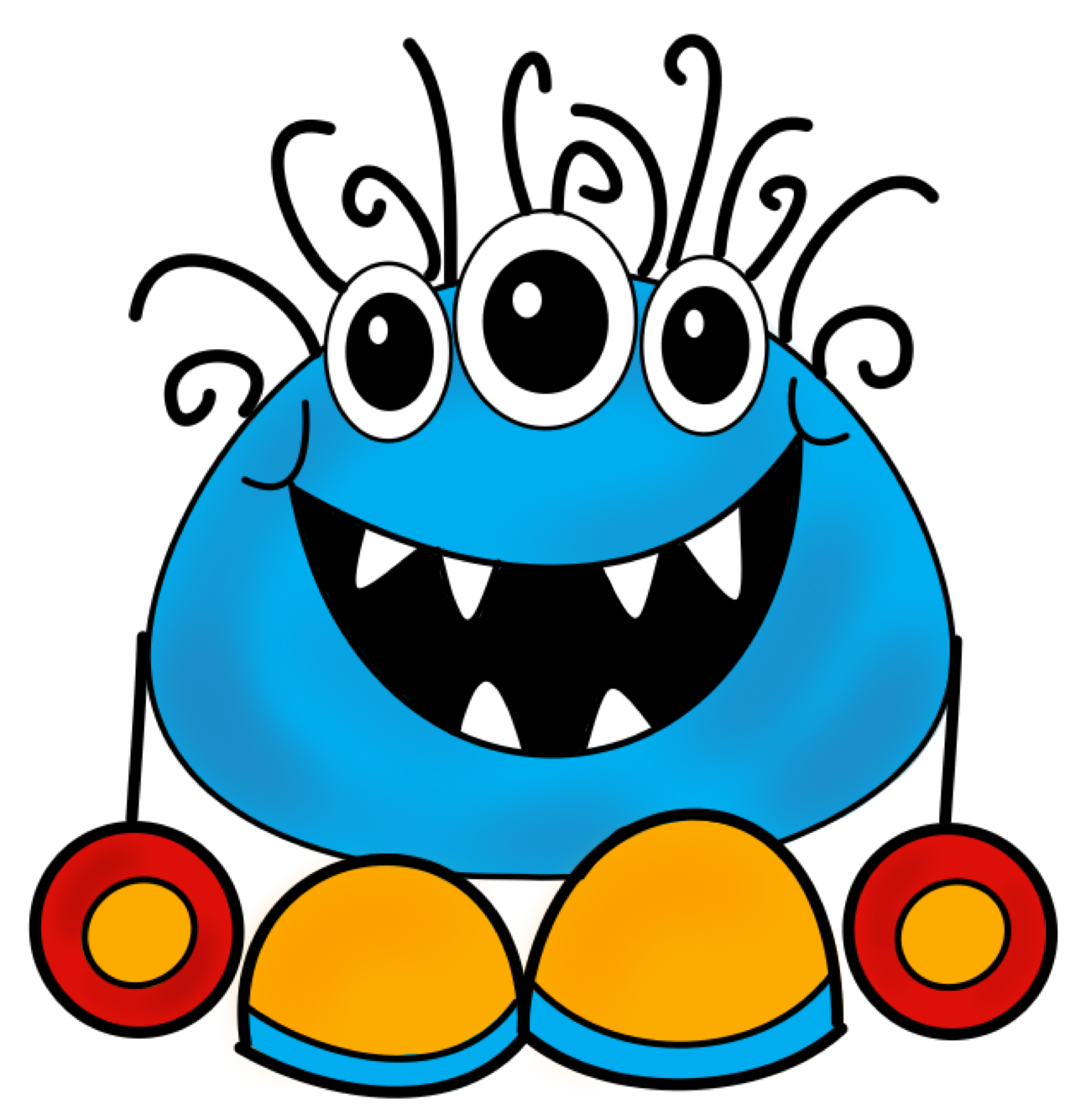 Monster clipart #1, Download drawings