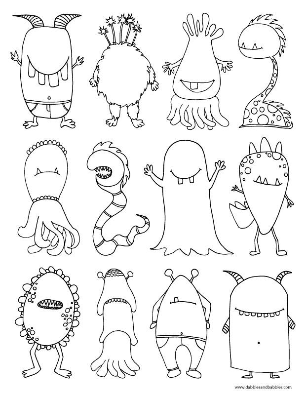 Monsters  Bed Head coloring #16, Download drawings