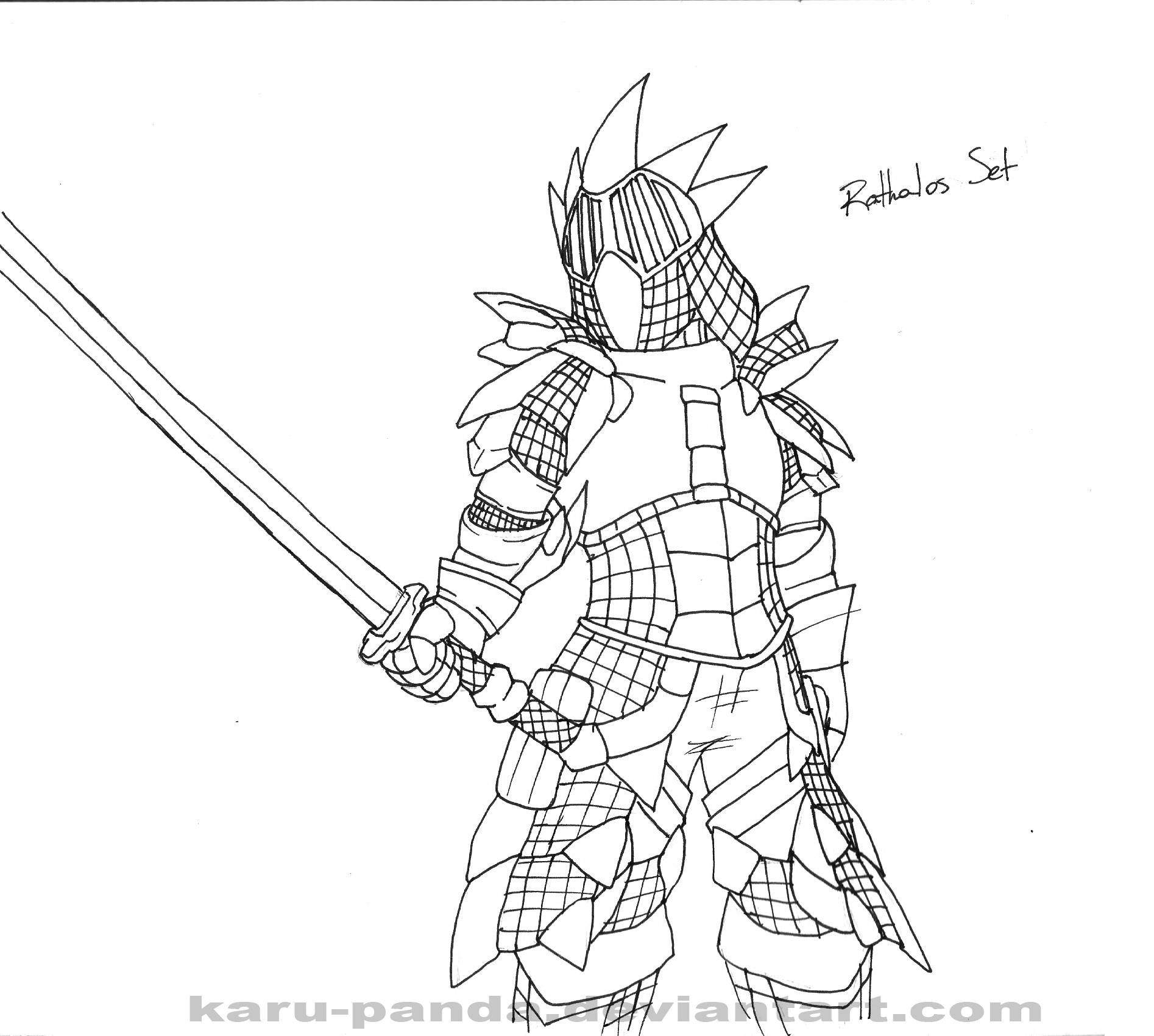 Monster Hunter coloring #1, Download drawings